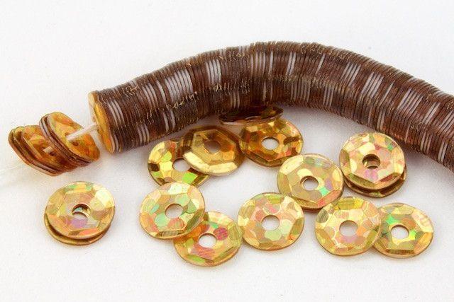 4mm Spot Gold Cupped Sequin #6526 1000 Pcs
