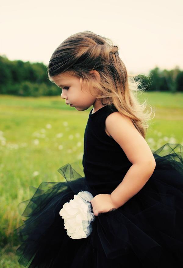 Black Dress Flowergirl Add Wings Presto Angel Fairy On Site
