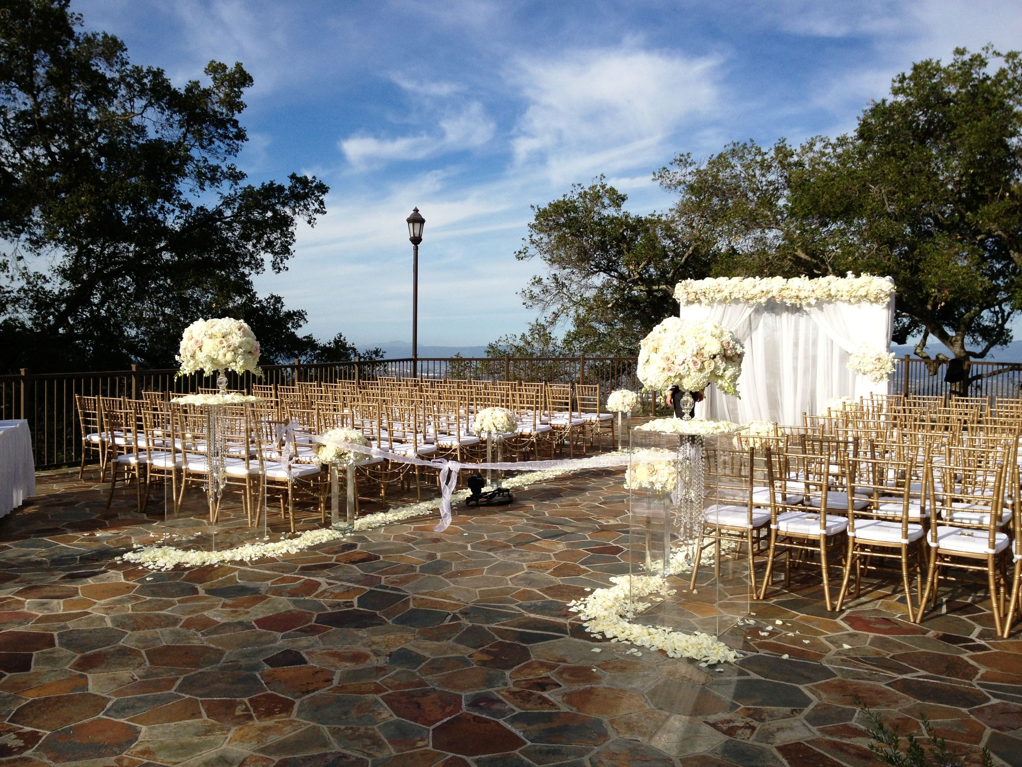 Vista Deck The Mountain Winery Saratoga Ca Wedding Venue