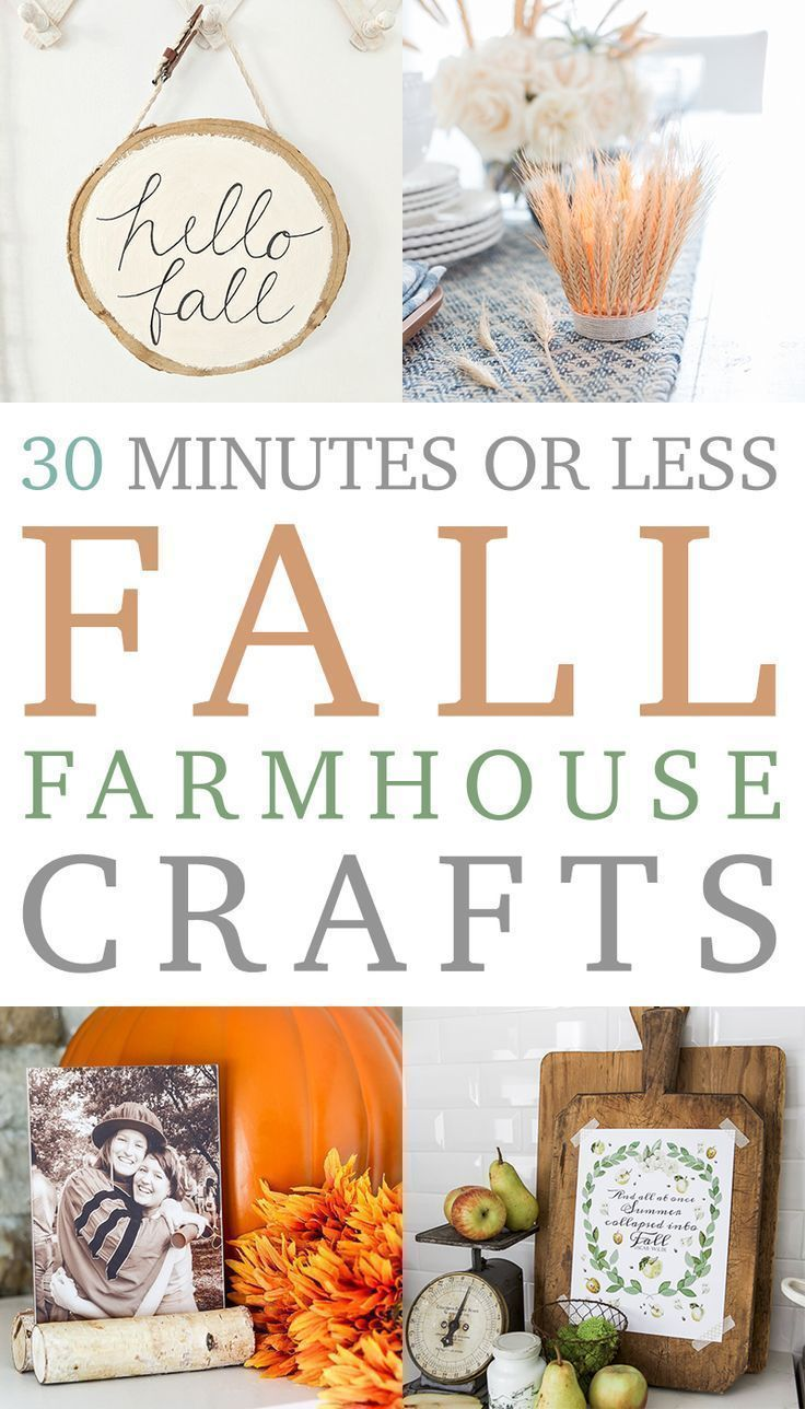 Quick and Affordable DIY Farmhouse Fall Crafts