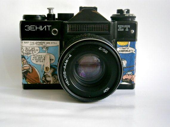 Vintage Camera Zenit Et 35 Mm Film Comics By Mydd On Etsy 41 00