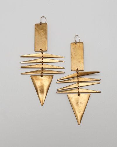 Cherokee earrings by Maslodesign.