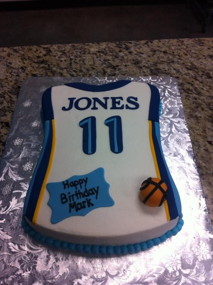 Surprising Memphis Grizzlies Jersey With Images Boy Birthday Cake Funny Birthday Cards Online Overcheapnameinfo