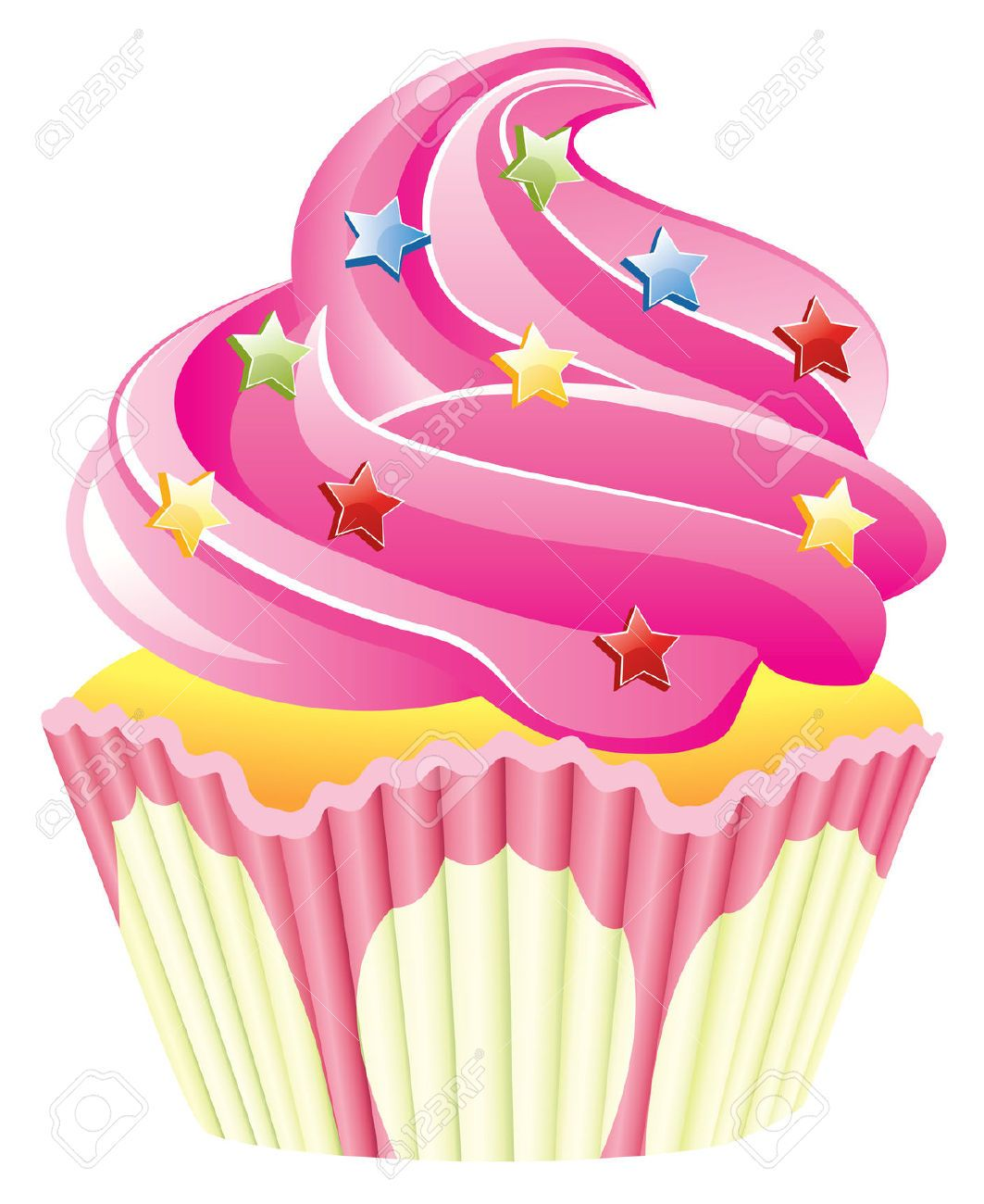 Clipart De Cupcake : Cute Cupcake Clip Art pink cupcake , pink cupcake with ...