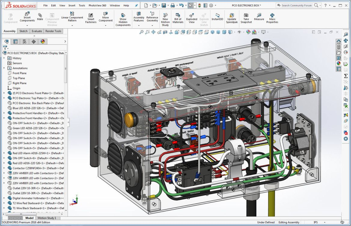SolidWorks Transparent View of Powder Coating Oven Control's Wiring Powder  Coating Oven