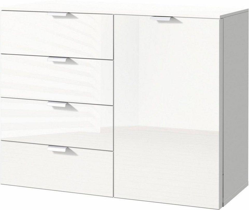 Express Solutions Kombikommode Breite 100 Cm Mit Glas Living