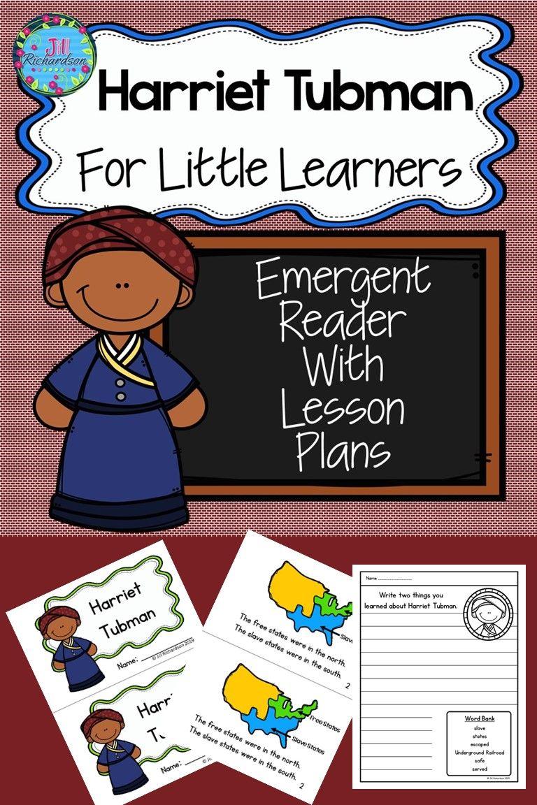 Harriet Tubman Activities Harriet Tubman Activities Black History Month Activities Kindergarten Emergent Readers [ 1152 x 768 Pixel ]