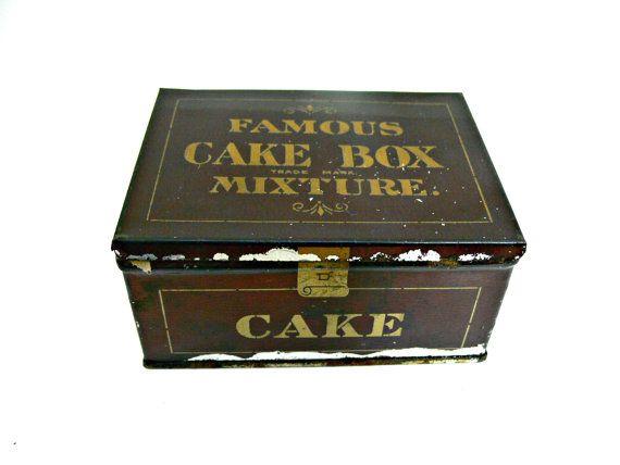 Antique Tobacco Tin Leavitt Amp Peirce Famous Cake Box