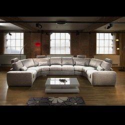 Mive Modern High Quality U Shape Sofa Corner Group Light Grey 25
