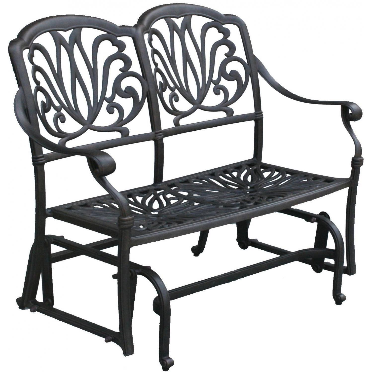 Miraculous Darlee Elisabeth Cast Aluminum Patio Bench Glider Dl709 2 Forskolin Free Trial Chair Design Images Forskolin Free Trialorg