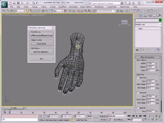 Pinocchio Skinning UI for 3ds Max from HJ