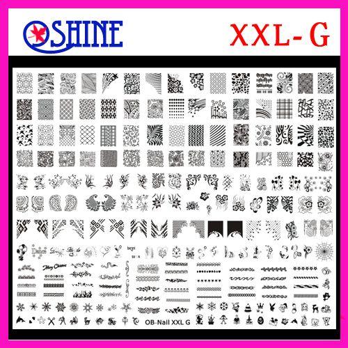 Konad New Stamping Big size Template XXL size XXL-G Designs Nail Art BigTemplate DIY $20.00