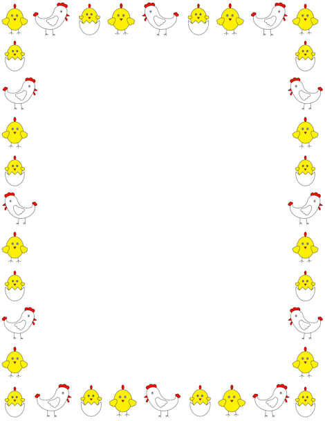 Printable chicken border. Free GIF, JPG, PDF, and PNG downloads at ...