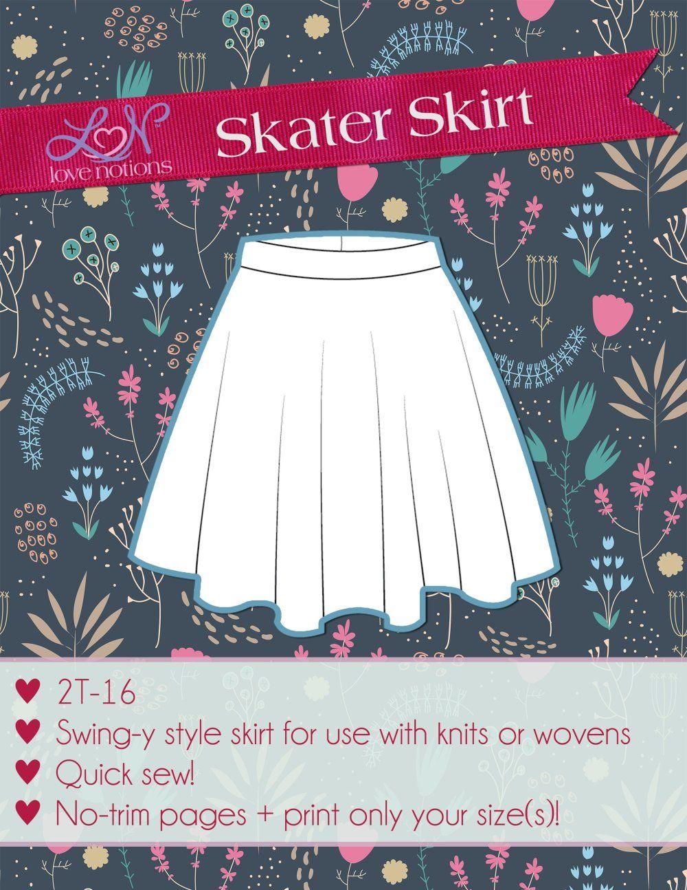 Free circle skirt downloadable pdf sewing pattern