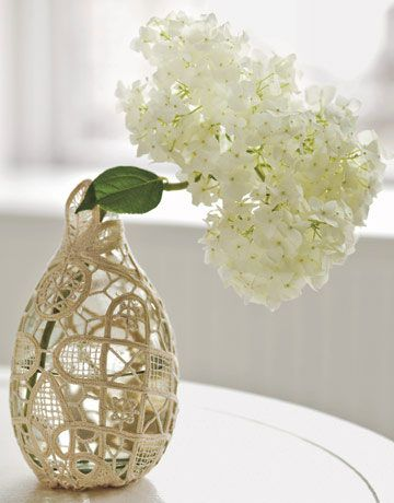 Diy Lace Doily Vase Craft Ideas Pinterest Doilies Crafts And Diy