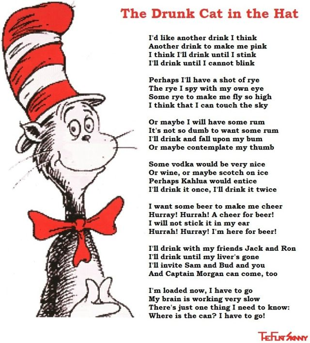 Dr  Seuss with his long lost drinking poem photo | Conner birthday