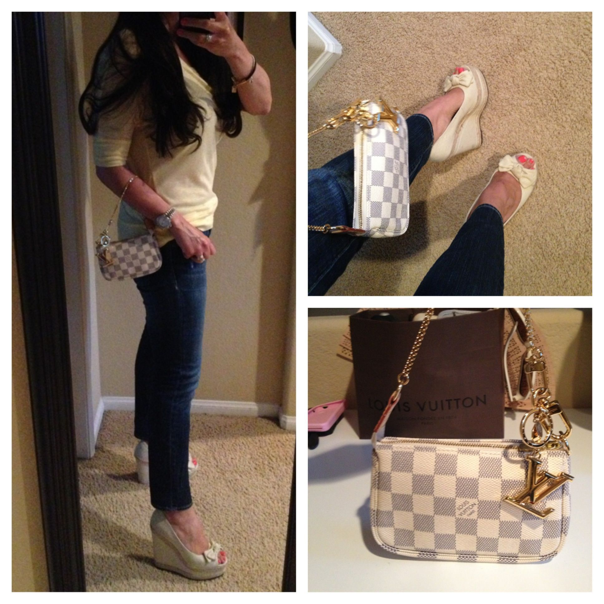 0ca2d55b9317 Articles of Society jeans and Louis Vuitton Azur Mini Pochette ...