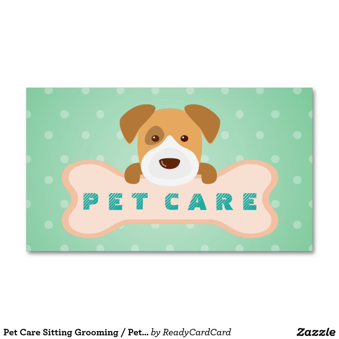 Pet Care Sitting Grooming / Pet Food Beauty Salon Appointment Card ...