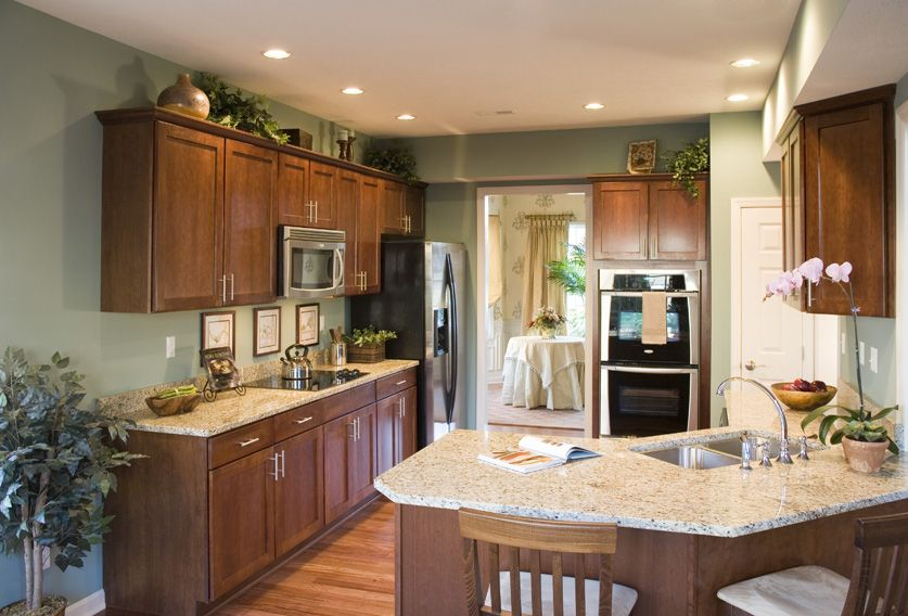 Kitchen with stainless steel appliances, granite counter ...