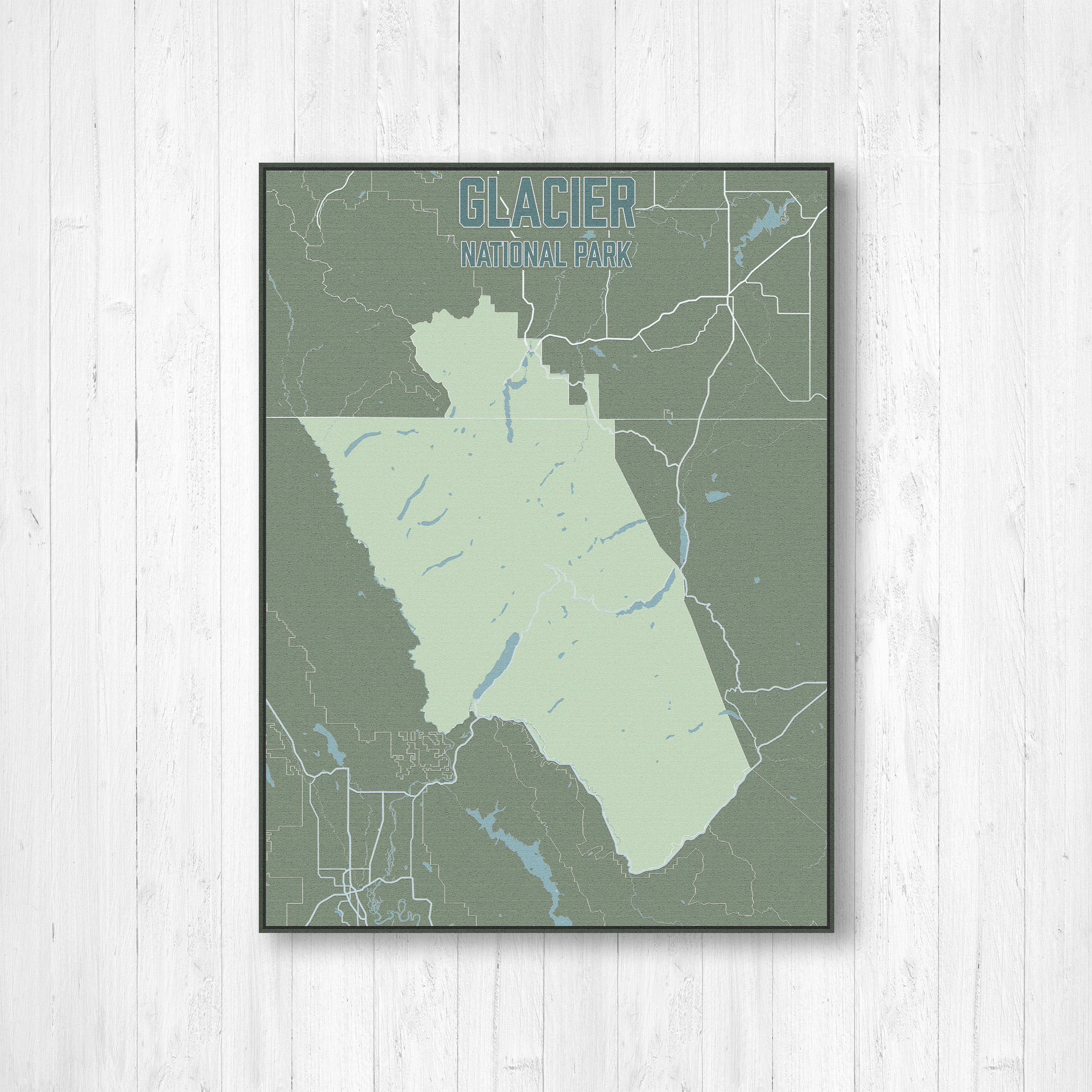 picture relating to Printable Map of Glacier National Park titled Glacier Countrywide Park Road Map Print, Glacier Nationwide