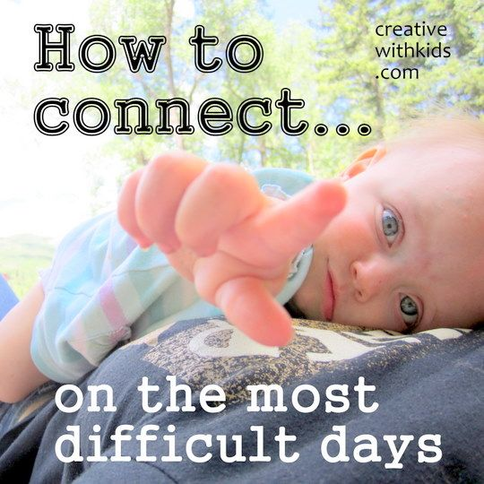 How can you connect with your kids when you're totally tapped out?  Here are a few ideas to help.