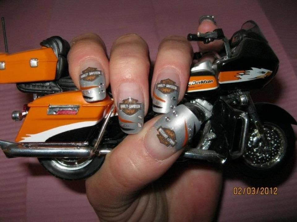 13 Ultra Cool Harley Davidson Nail Designs | Harley davidson, Makeup and  Pretty nails - 13 Ultra Cool Harley Davidson Nail Designs Harley Davidson