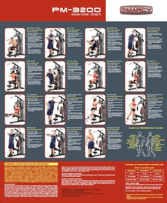 15 photos of marcy home gym workout poster fitness for Home designs by marcy