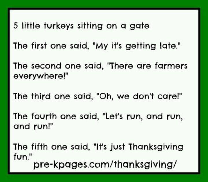 Five Little Turkeys Home Schooling for Toddlers Pinterest