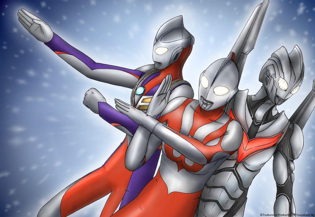 Ultraman, Tiga and Noa by on