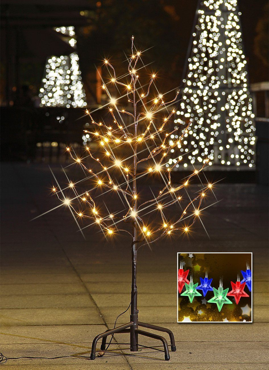 Lightshare 3ft 112l Led Star Light Tree Free Gift 10l Led Star Twinkling Light Christmas Decorations Led Star Lights Tree Lighting