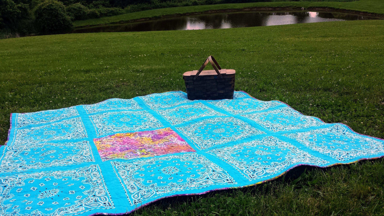 Bandana Picnic Blanket Quilt