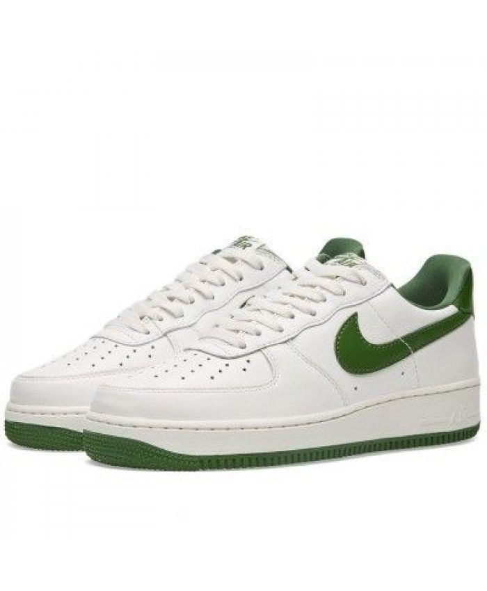 Nike Air Force 1 Low Retro Summit White Forest Green Shoes UK Sale