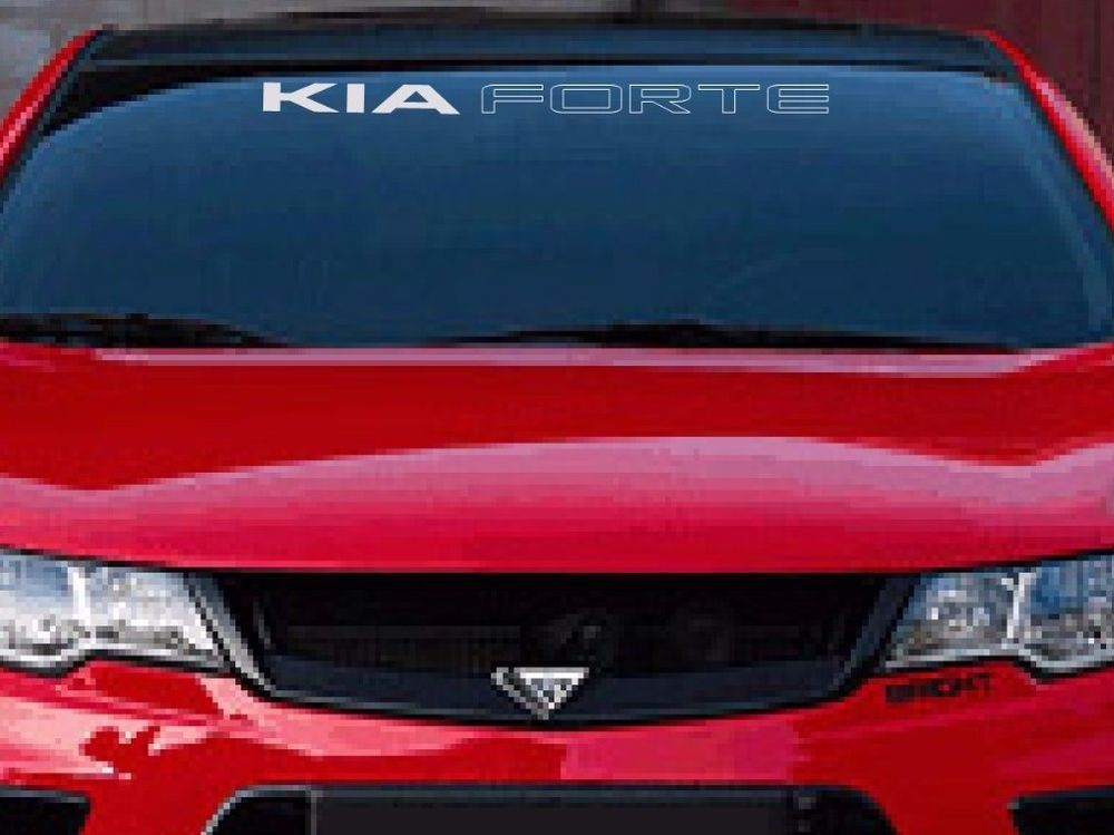 KIA FORTE WINDSHIELD DECAL EBay Motors Parts Accessories Car - Vinyl decals cartribal hearts decal vinylgraphichood car hoods decals and