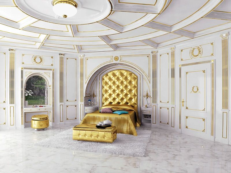 Immagine di boiserie luxor 3 pareti classiche di lusso for Interni case classiche