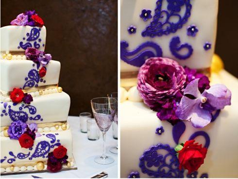 Red Purple Wedding