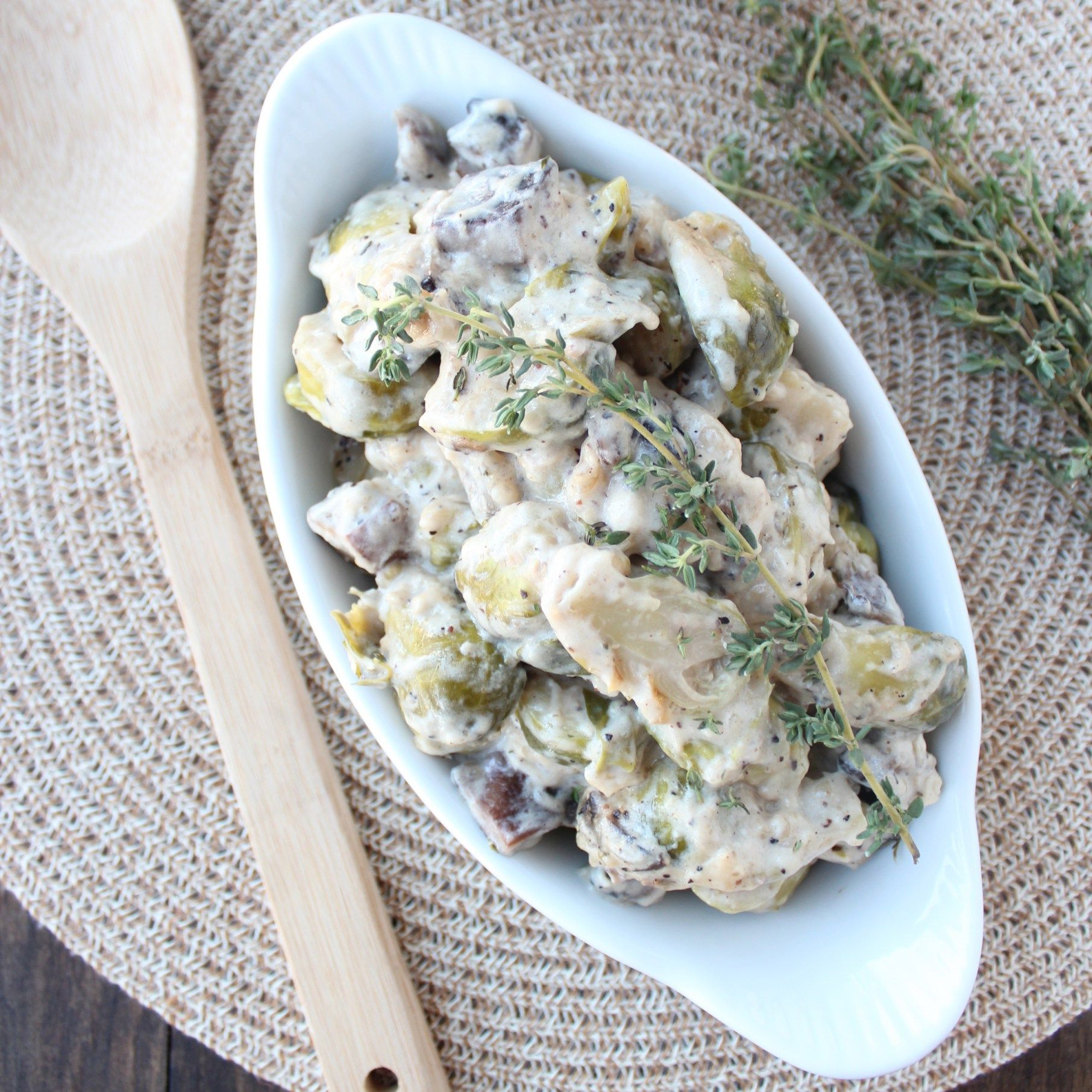 Brunch Style Portobello Mushrooms Recipe: Portobello Mushroom Brussels Sprouts Casserole