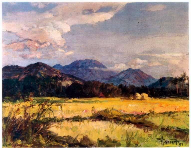 Landscape By Fernando Amorsolo In 2020 Filipino Art Famous Landscape Paintings Philippine Art