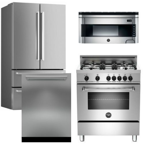 Package Bert1 Bertazzoni Appliance Package 4 Piece Luxury Package With 30 Dual Fuel Ra Fully Integrated Dishwasher Integrated Dishwasher Luxury Appliances