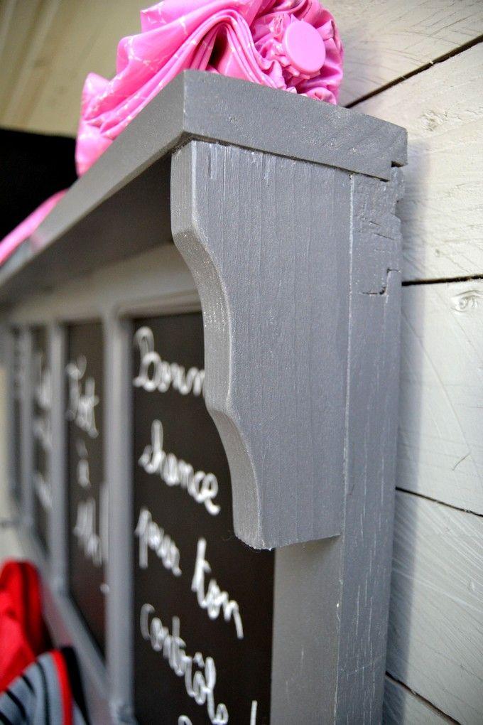 Idée pour recycler et transformer une vieille fenêtre facilement - rajeunir un meuble ancien