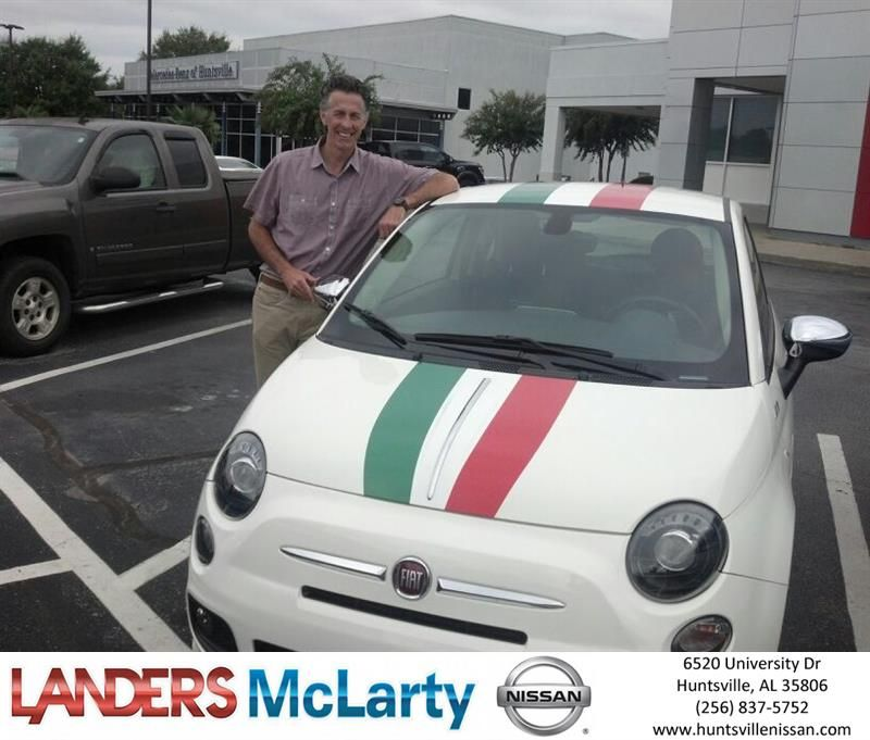 Congratulations Troy on your FIAT 500 from John