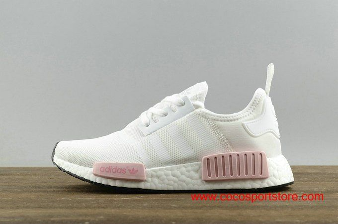 de0fef6d0ac967 Supreme X Adidas NMD R1 BY1916 White Pink Women s Originals