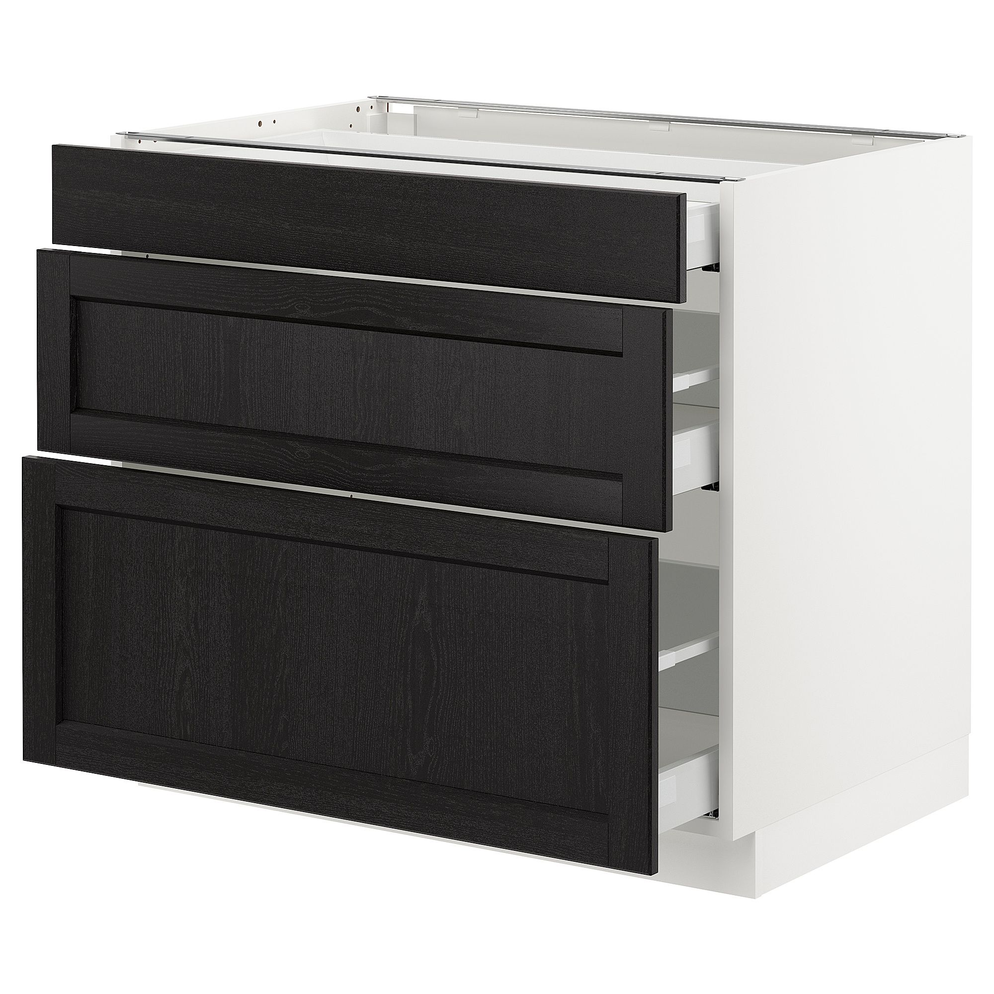 Ikea Home Planner Italiano sektion base cabinet with 3 drawers - white maximera