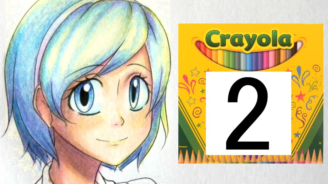 How To Color With Crayola Colored Pencils Part Two Hair Crayola Colored Pencils Colour Pencil Shading Colored Pencils