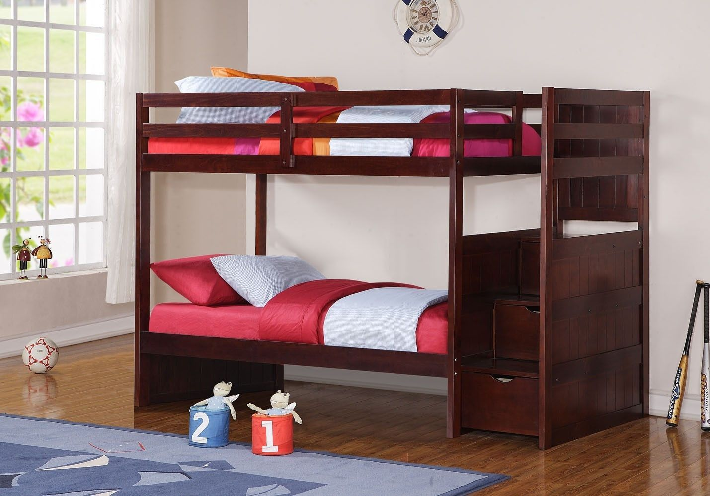 Adam Wooden Bunk Bed With Stairs Bunk Beds Twin Bunk Beds