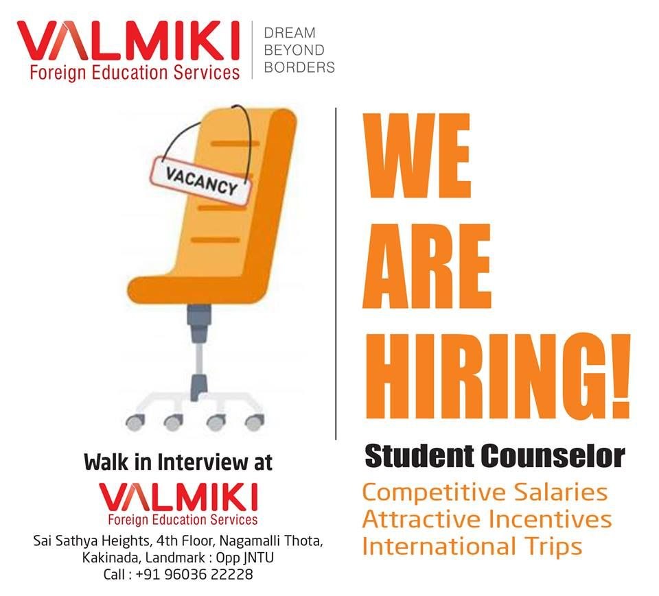 Grab the Opportunity!!! send your resume at enquiry