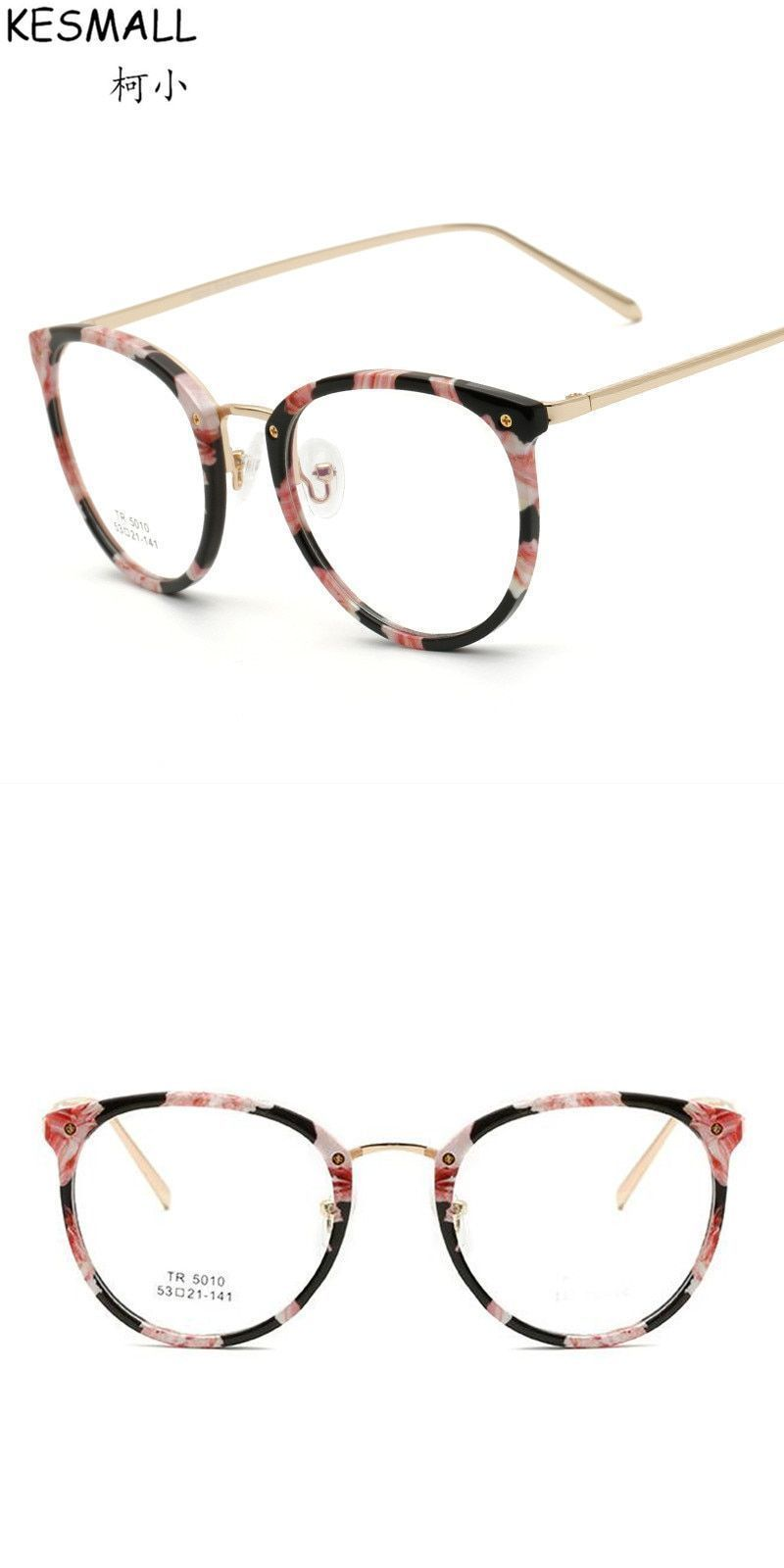 5ad85e09c0347 Fashion optical glasses frame women light tr90 eyeglasses frames flower  print lady oversized glasses frame oculos