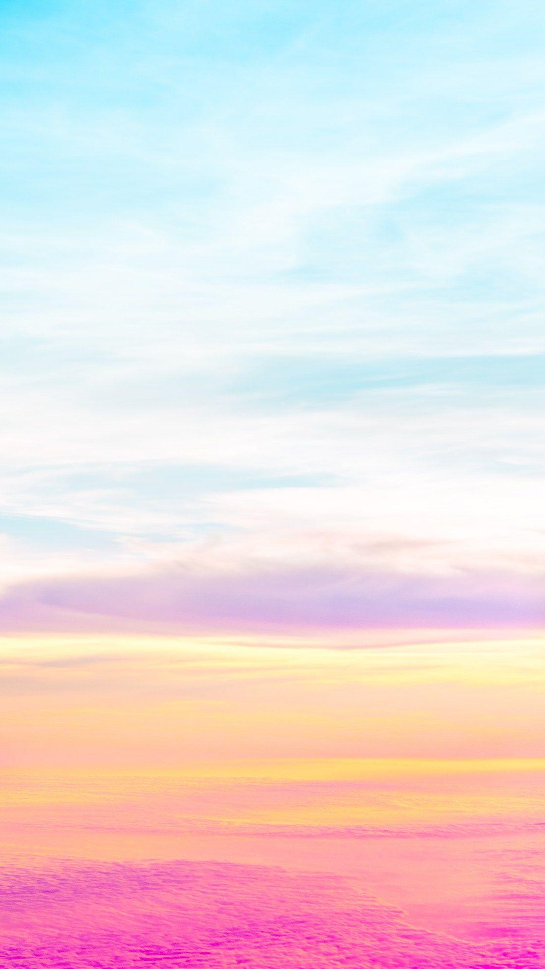 Beautiful Pastel Sky Iphone 6 Hd Wallpaper Pastel Iphone