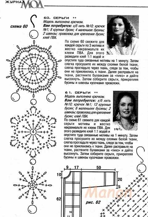 Earrings crochet free pattern   AROS   Pinterest   Labores de ...