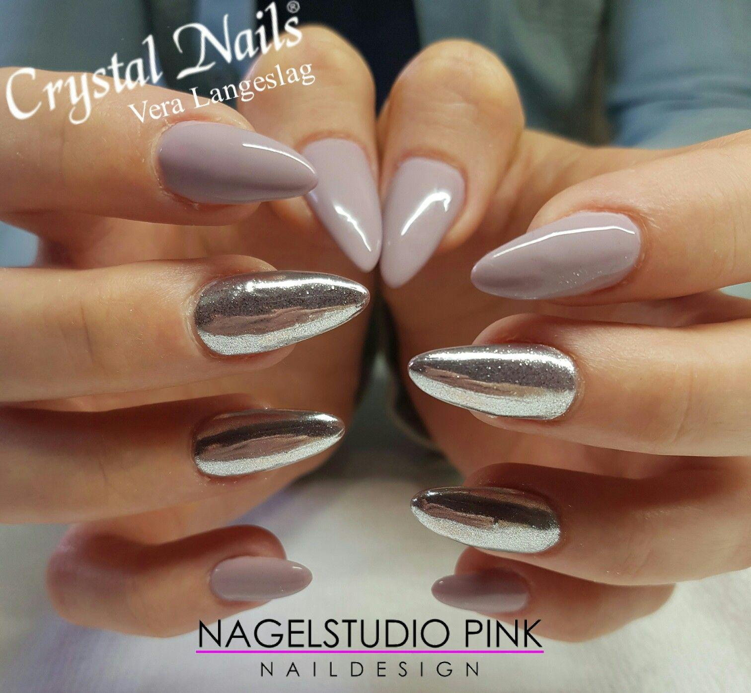 Chrome powder nail art! #crystalnails #veralangeslag ...