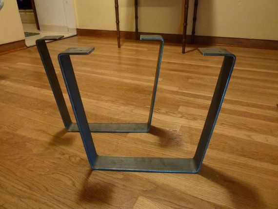 Mid Century · Metal Coffee Table Legs 2.5 In. Raw Steel Flat Bar By PDBSteel